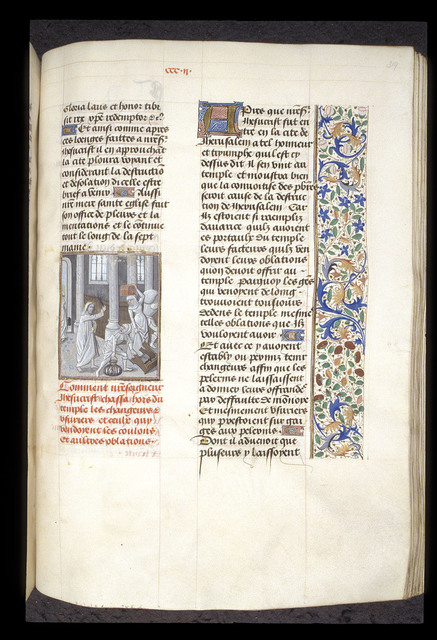 Cleansing of the Temple from BL Royal 15 D I, f. 319