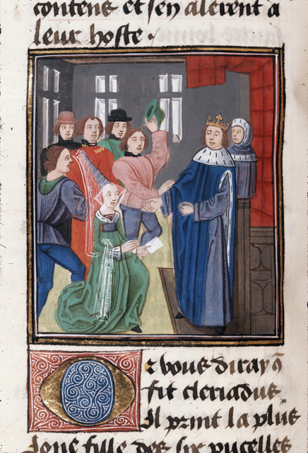 Cleriadus' challenge from BL Royal 20 C II, f. 56v
