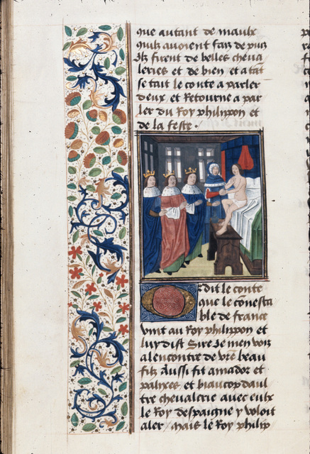 Cleridius in his chamber from BL Royal 20 C II, f. 179v