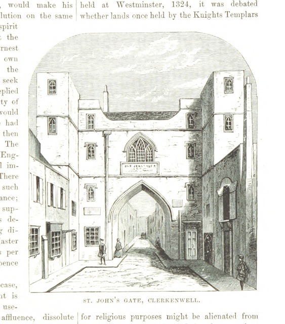 """Clerkenwell from """"The National and Domestic History of England ... With numerous steel plates, coloured pictures, etc"""""""