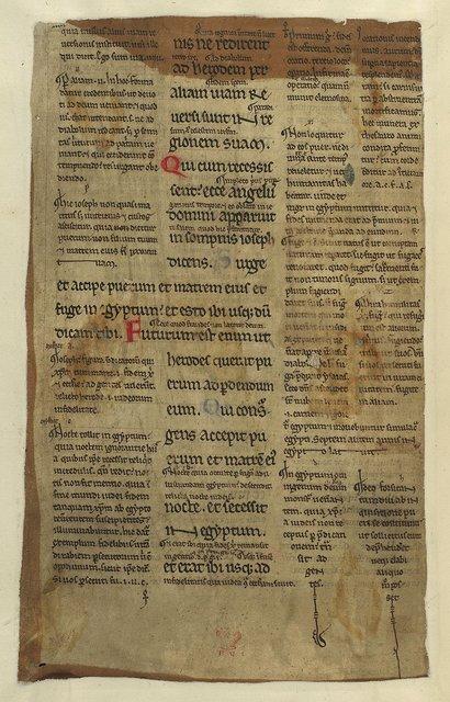 Coloured letters from BL Sloane 1044, f. 61v