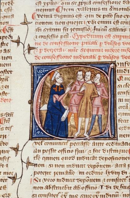 Confessio iudicialis (Confession to a judge) from BL Royal 6 E VI, f. 369v