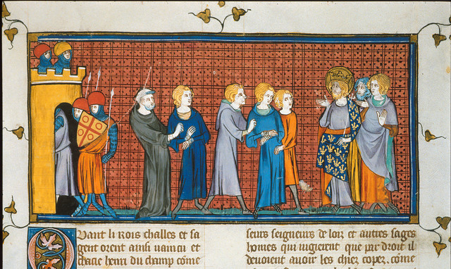 Conradin and Henry od Spain from BL Royal 16 G VI, f. 436