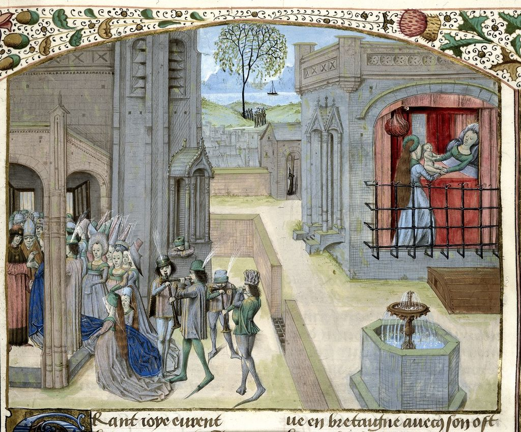 Constans and Helena from BL Royal 15 E IV, f. 73