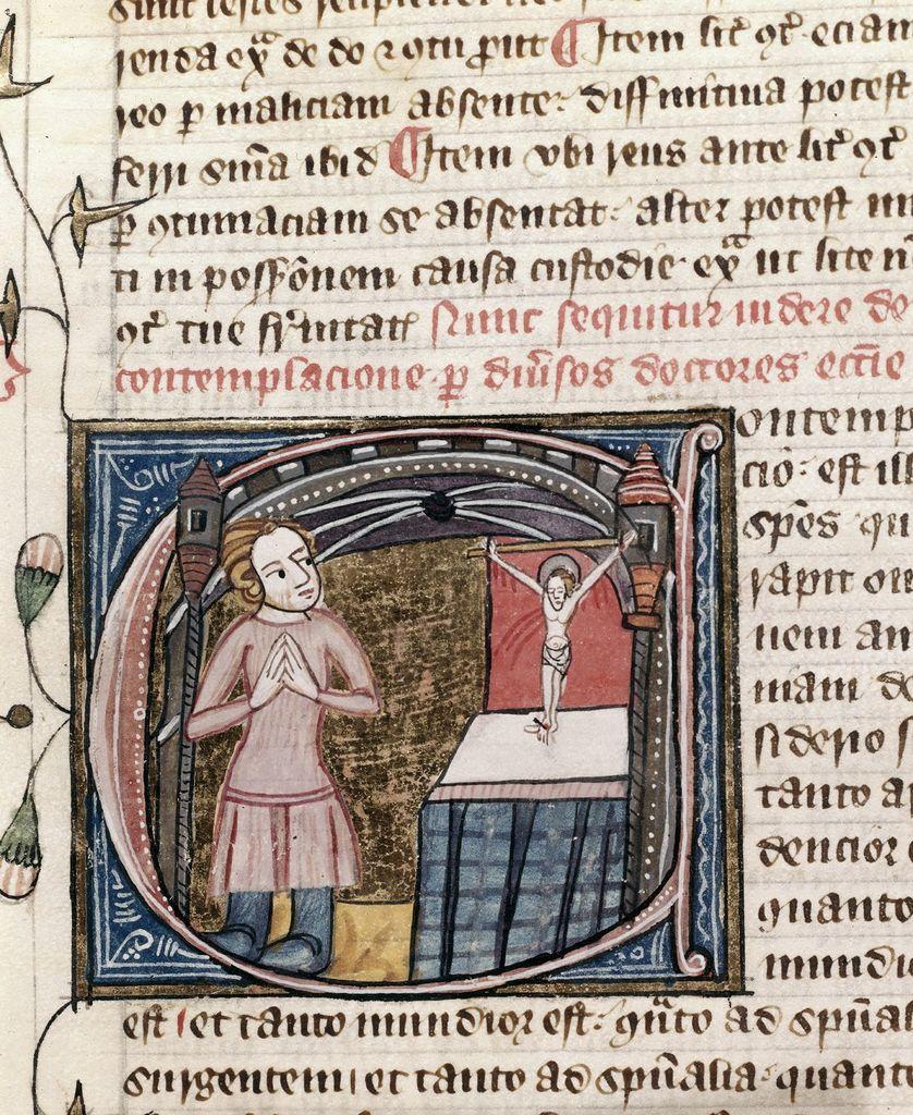 Contemplacio (Contemplation) from BL Royal 6 E VI, f. 409v