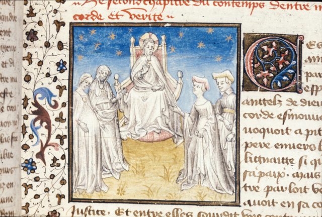 Contest of Mercy and Truth from BL Royal 20 B IV, f. 7