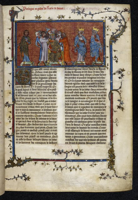 Coronation of Pharamond from BL Royal 16 G VI, f. 3