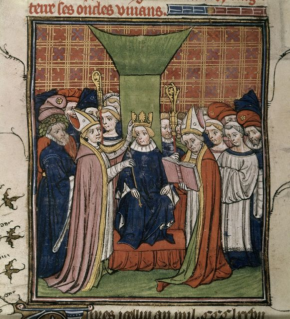 Coronation of Richard II from BL Royal 20 C VII, f. 192v