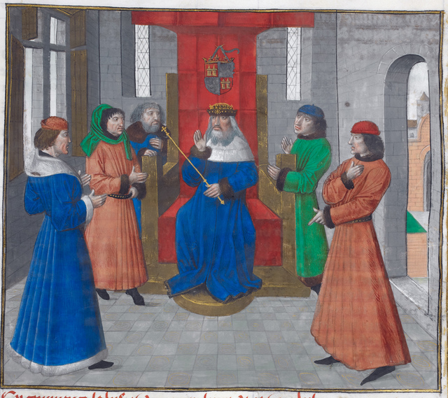 Council of king John of Castile from BL Royal 14 E IV, f. 299