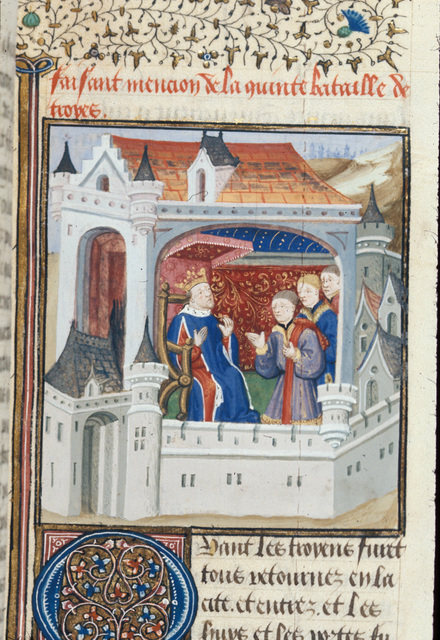 Council of Priam from BL Royal 16 F IX, f. 50