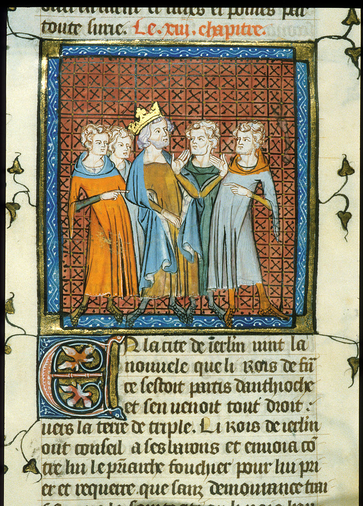 Council of princes from BL Royal 16 G VI, f. 320