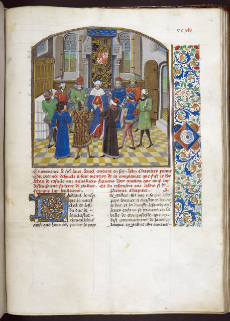 Court of the king of Castile from BL Royal 14 E IV, f. 254