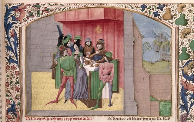 Court of Uther from BL Royal 15 E IV, f. 134