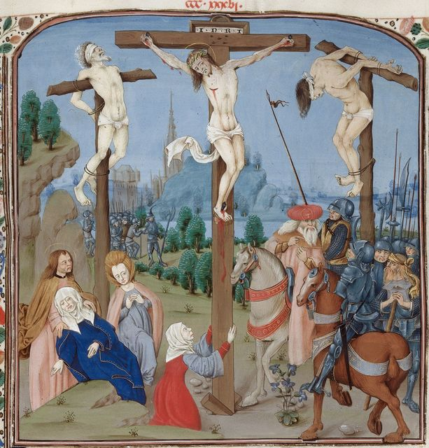 Crucifixion from BL Royal 15 D I, f. 353