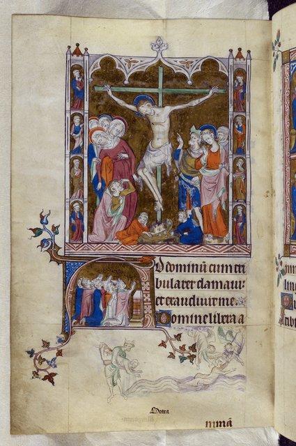 Crucifixion from BL Royal 2 B VII, f. 256v