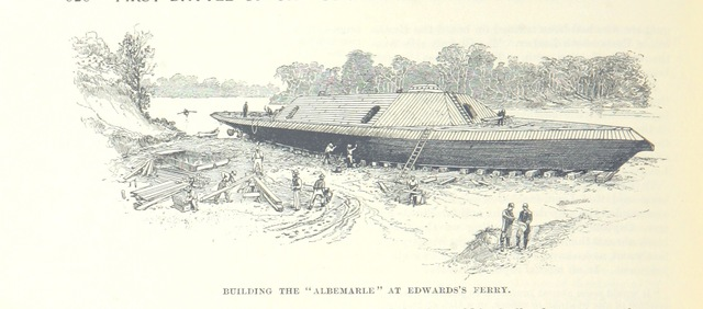 "CSS Albemarle from ""Battles and Leaders of the Civil War, being for the most part contributions by Union and Confederate officers, based upon ""the Century War Series."" Edited by R. U. J. and C. C. B., etc. [Illustrated.]"""