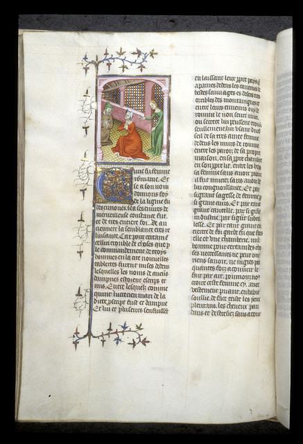 'Curie' (Turia) hiding her husband Q. Lucretius from BL Royal 20 C V, f. 126v