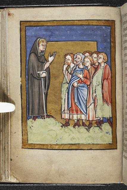 Cuthbert preaching from BL YT 26, f. 22v
