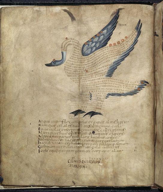 Cygnus from BL Harley 647, f. 5v