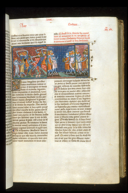 Dagobert and Clothaire from BL Royal 16 G VI, f. 97