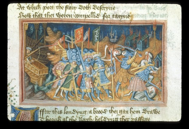 Danes pillaging from BL Harley 2278, f. 48