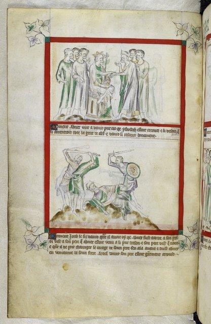 David and Abner from BL Royal 2 B VII, f. 54v