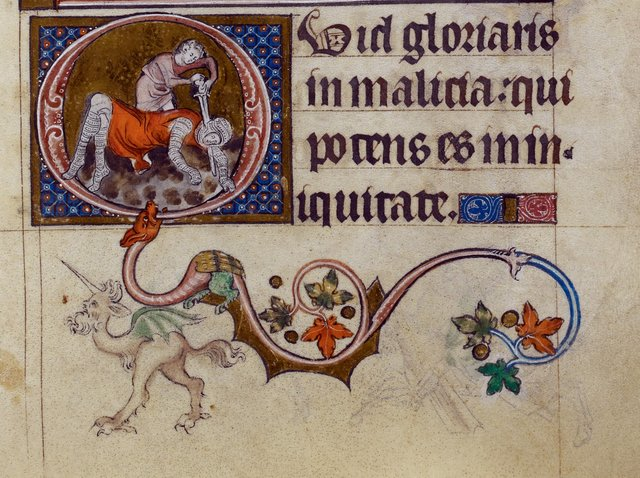 David and grotesque from BL Royal 2 B VII, f. 149