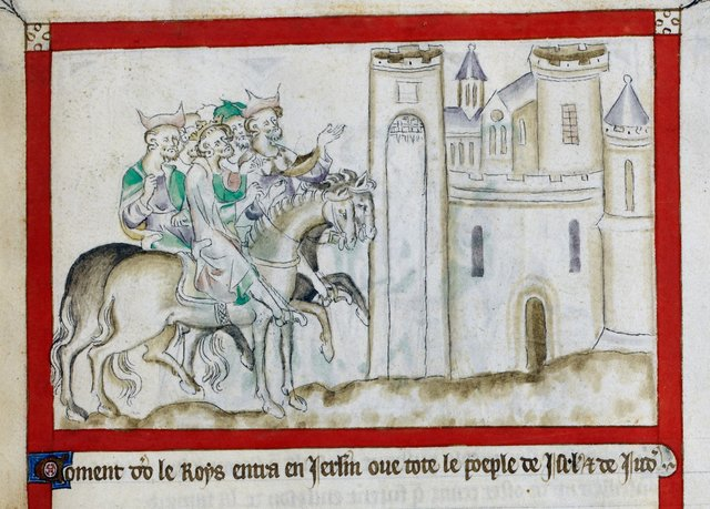 David and his people from BL Royal 2 B VII, f. 61