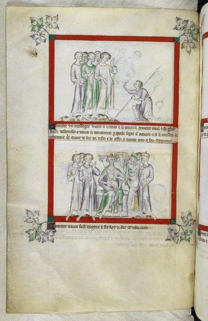 David and messenger from BL Royal 2 B VII, f. 53v