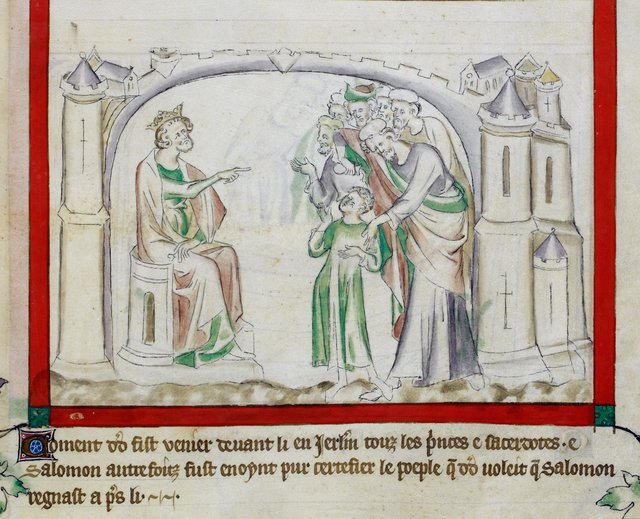 David and Solomon from BL Royal 2 B VII, f. 64