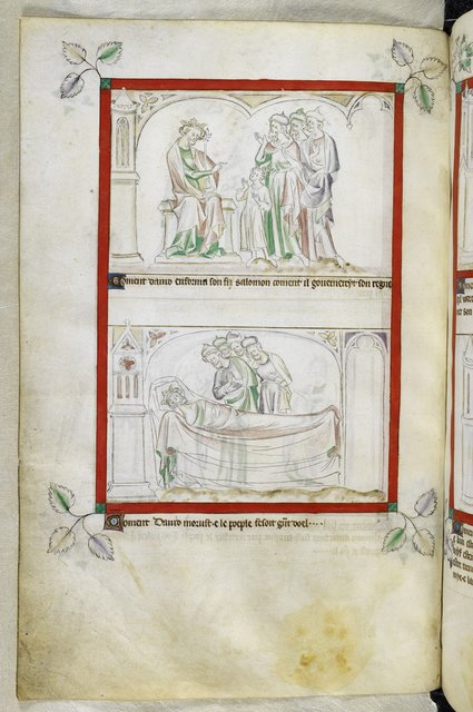David and Solomon from BL Royal 2 B VII, f. 64v