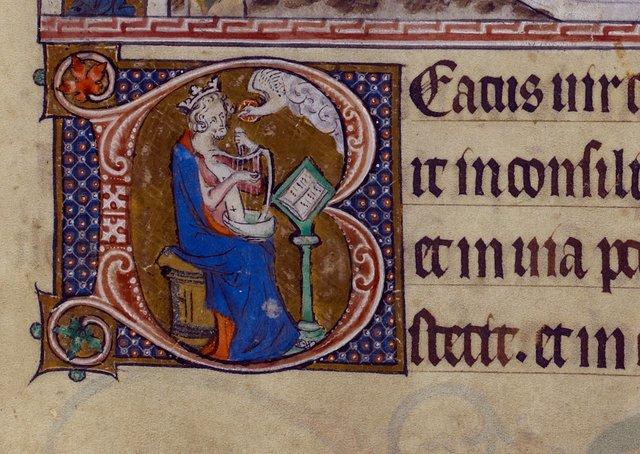 David from BL Royal 2 B VII, f. 85