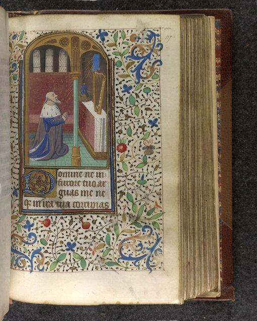 David in penitence from BL Sloane 2803, f. 117