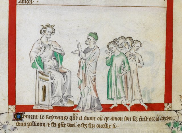 David lamenting from BL Royal 2 B VII, f. 58v