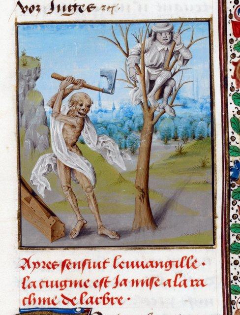Death from BL Royal 15 D V, f. 36