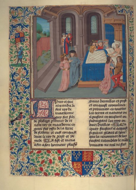 Death of Alexander from BL Royal 15 D I, f. 119v