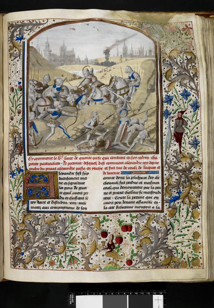 Death of Alexander from BL Royal 15 D IV, f. 112