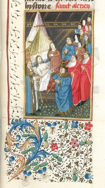 Death of Alexien from BL YT 49, vol. 2, f. 16