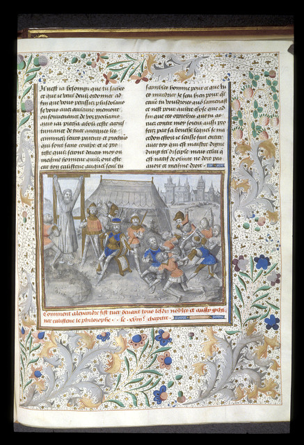 Death of Callisthenes from BL Royal 15 D IV, f. 172