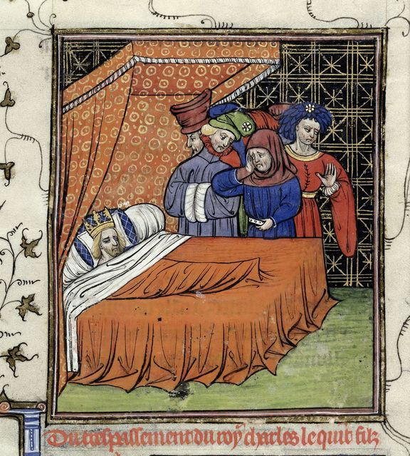 Death of Charles V from BL Royal 20 C VII, f. 215