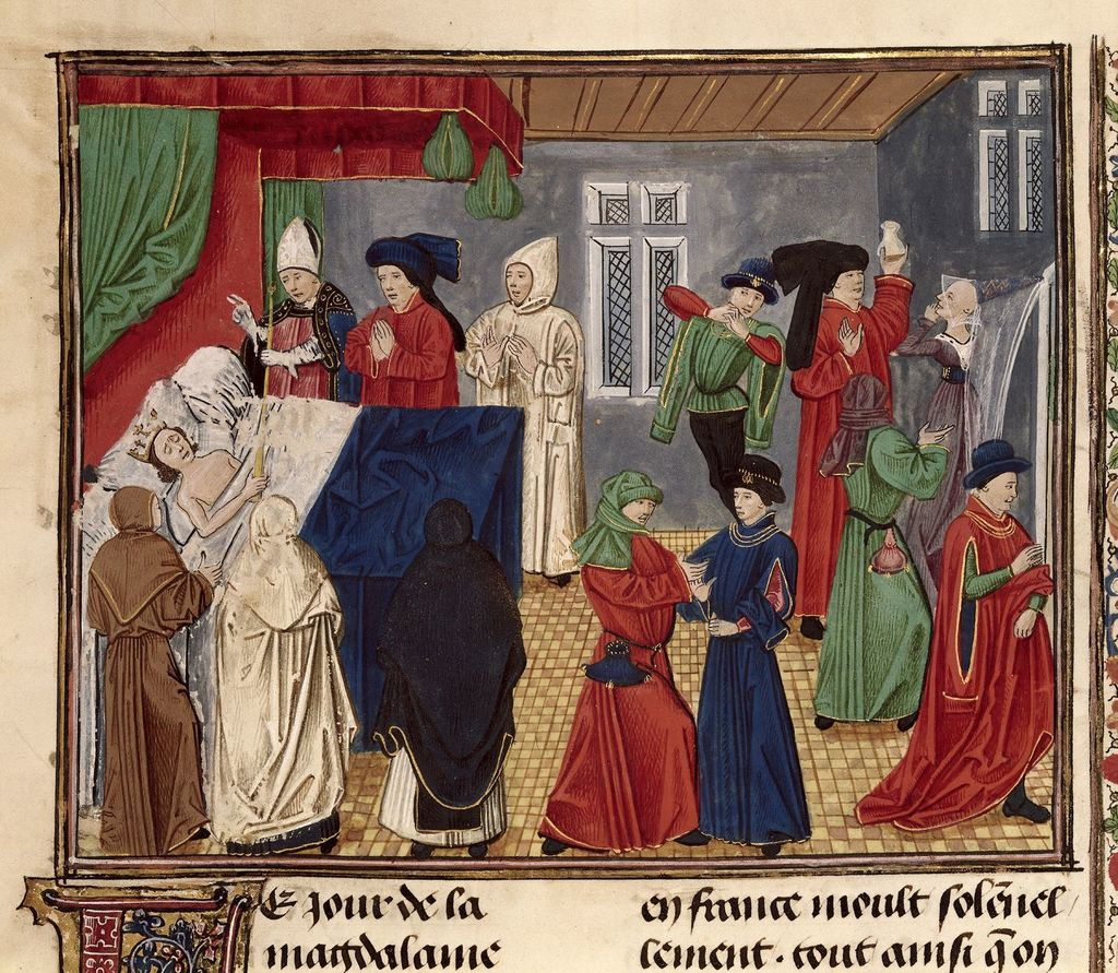 Death of Charles VII from BL Royal 20 C IX, f. 311