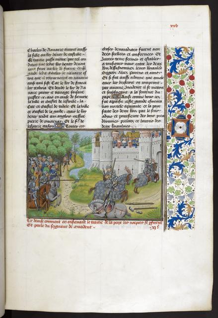 Death of de Lagurant from BL Royal 14 E IV, f. 34