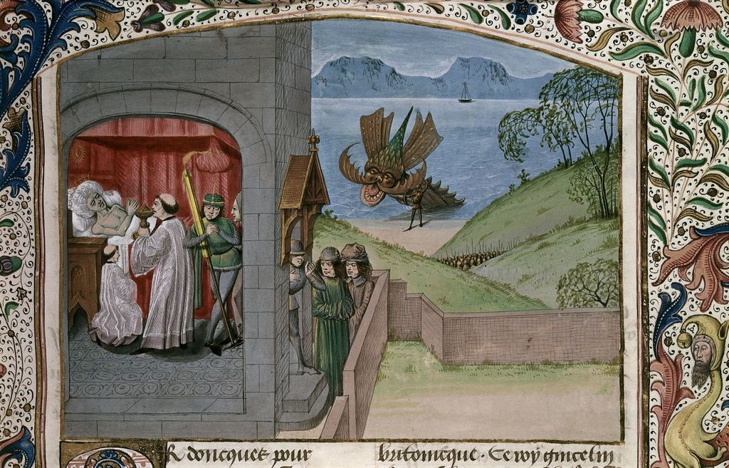 Death of Gincelin from BL Royal 15 E IV, f. 52