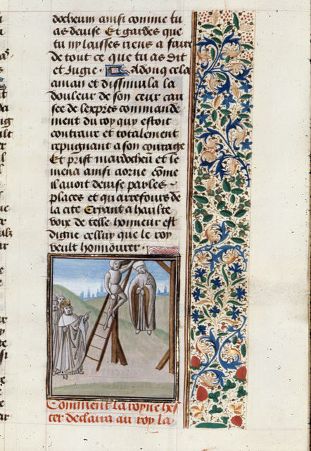 Death of Haman from BL Royal 15 D I, f. 101
