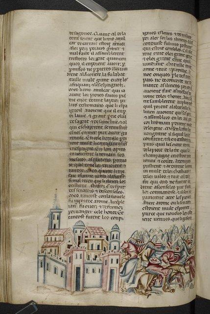Death of Hamilcar from BL Royal 20 D I, f. 267v