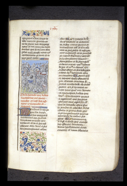 Death of Judas Maccabeus from BL Royal 15 D I, f. 143