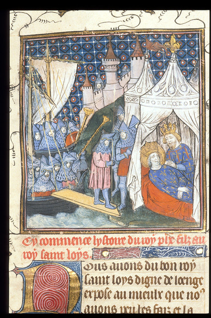 Death of Louis from BL Royal 20 C VII, f. 1