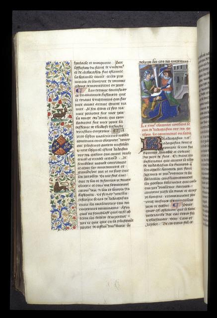 Death of Radagaisus from BL Royal 14 E V, f. 428v