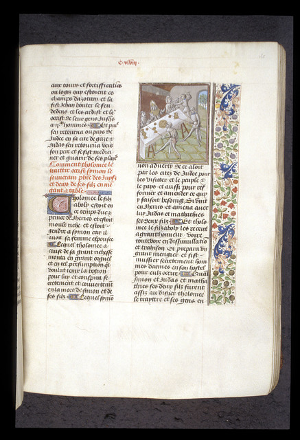 Death of Simon Maccabeus from BL Royal 15 D I, f. 165