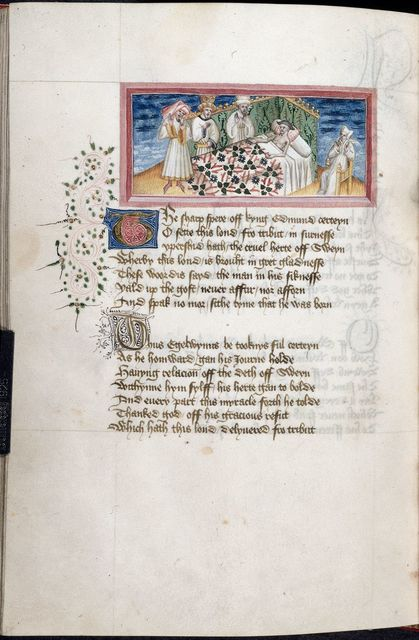 Death of Sweyn from BL Harley 2278, f. 105v